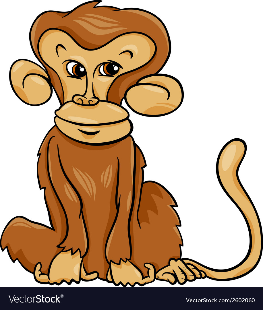Cute monkey cartoon vector | Price: 1 Credit (USD $1)