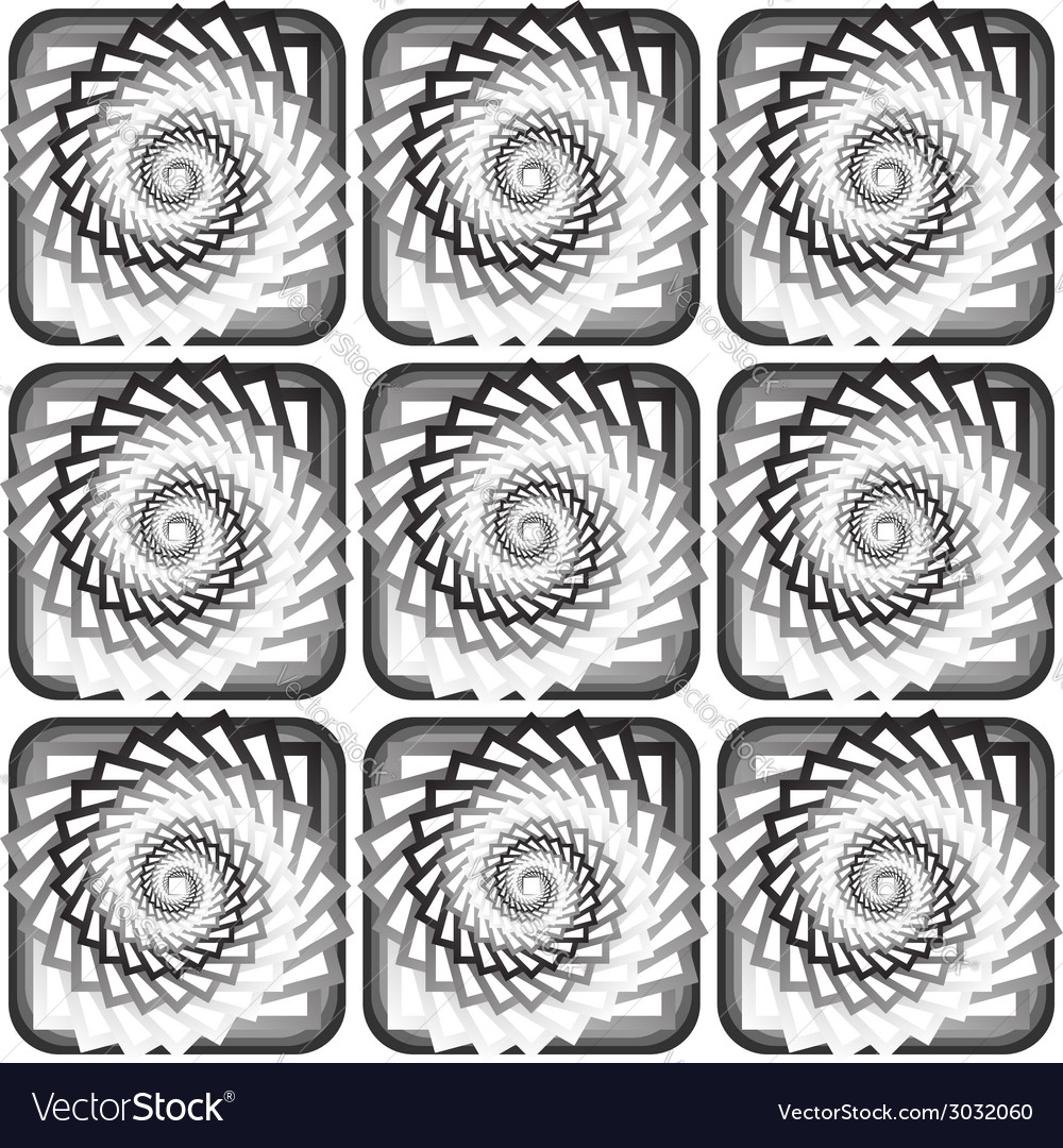 Design seamless monochrome vortex twisting pattern vector | Price: 1 Credit (USD $1)