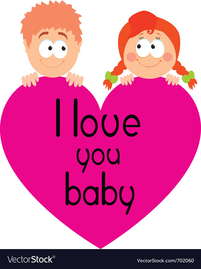 I love you babe vector | Price: 1 Credit (USD $1)