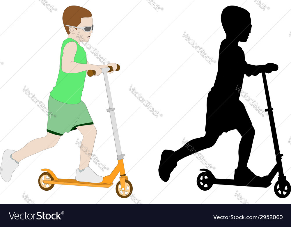 Scooter kid vector | Price: 1 Credit (USD $1)