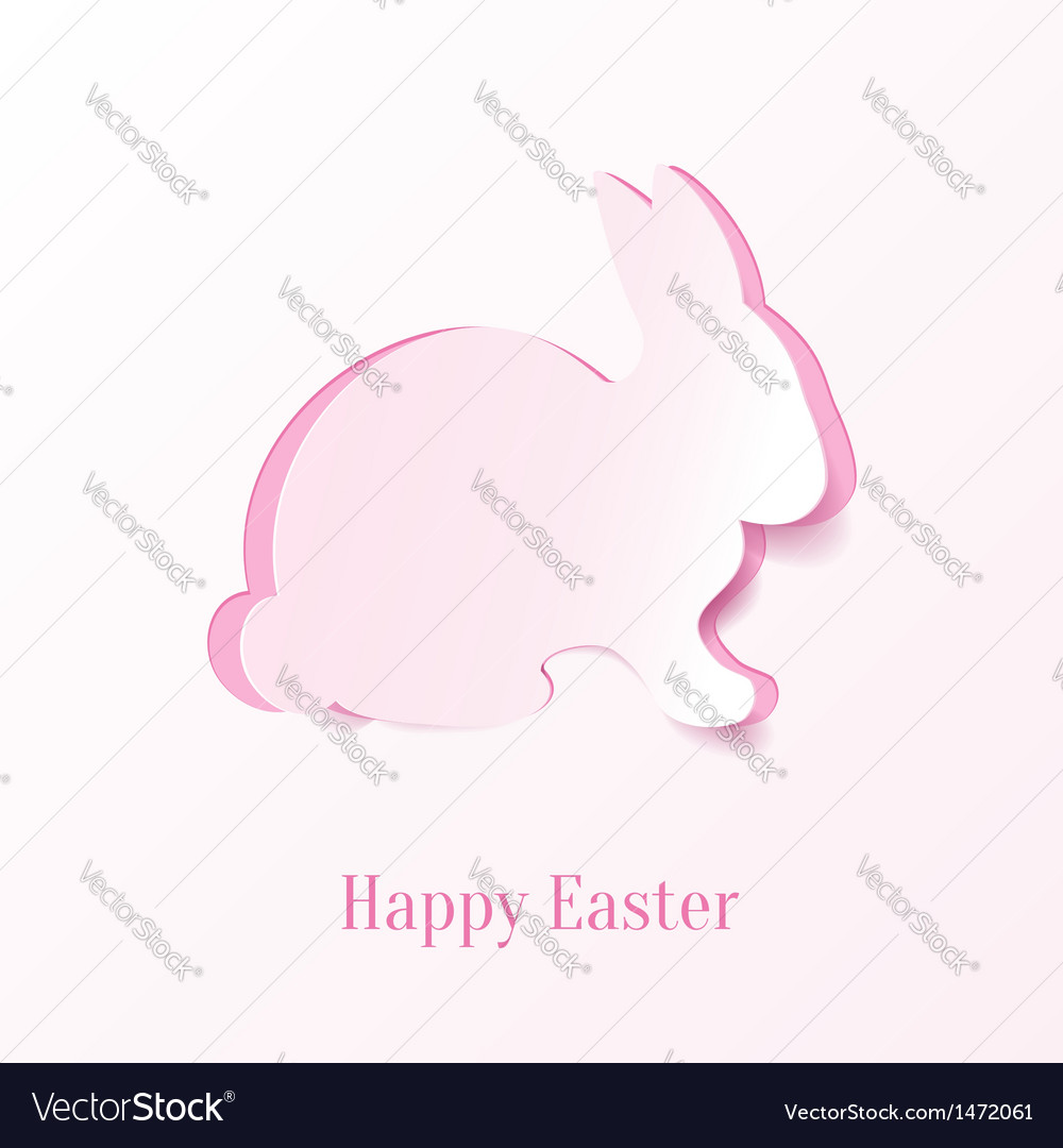 Creative easter bunny vector | Price: 1 Credit (USD $1)
