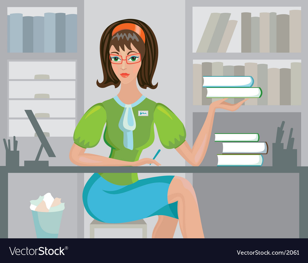 Cute librarian vector | Price: 3 Credit (USD $3)