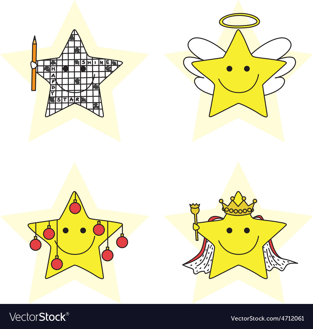 Happy stars vector | Price: 1 Credit (USD $1)