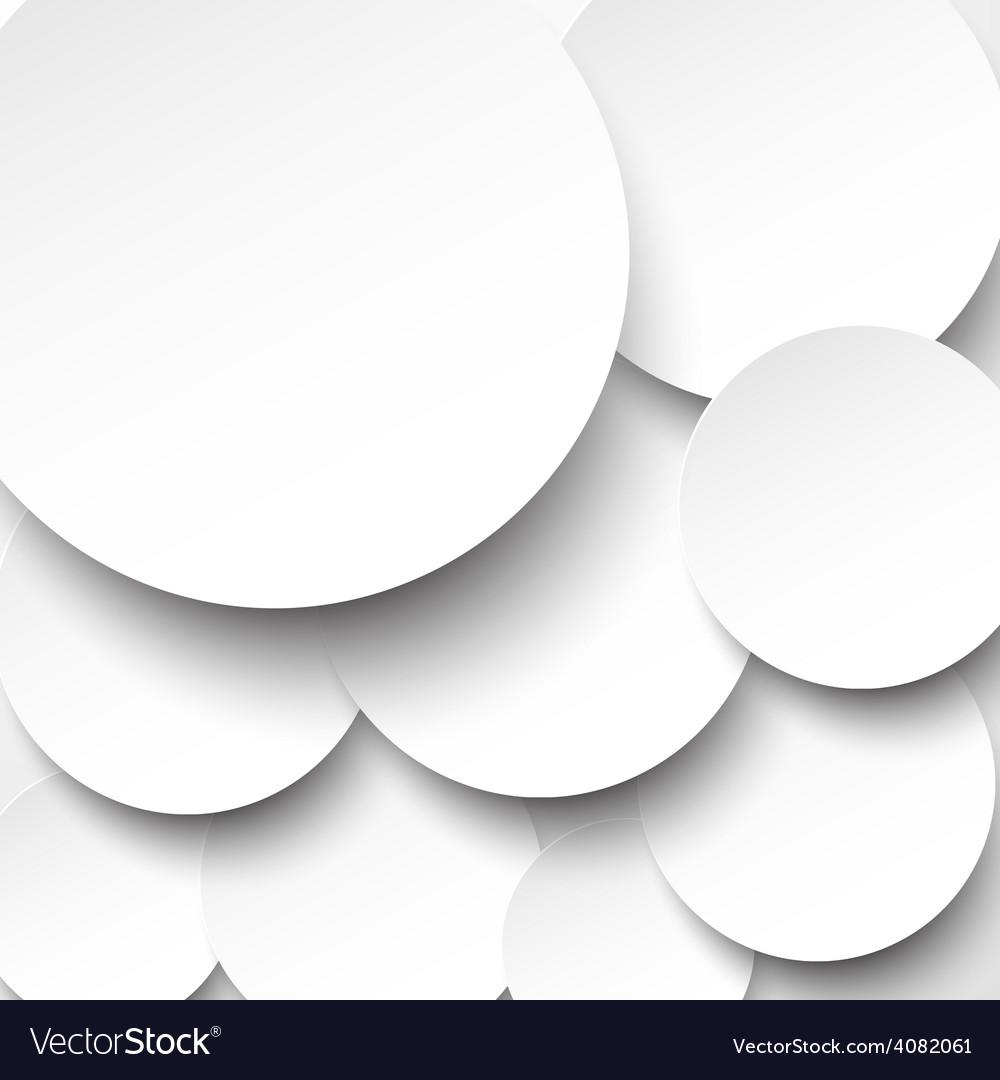 Paper white circles vector | Price: 1 Credit (USD $1)