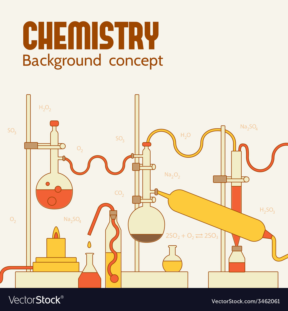 Retro experiments in a chemistry laboratory vector | Price: 1 Credit (USD $1)