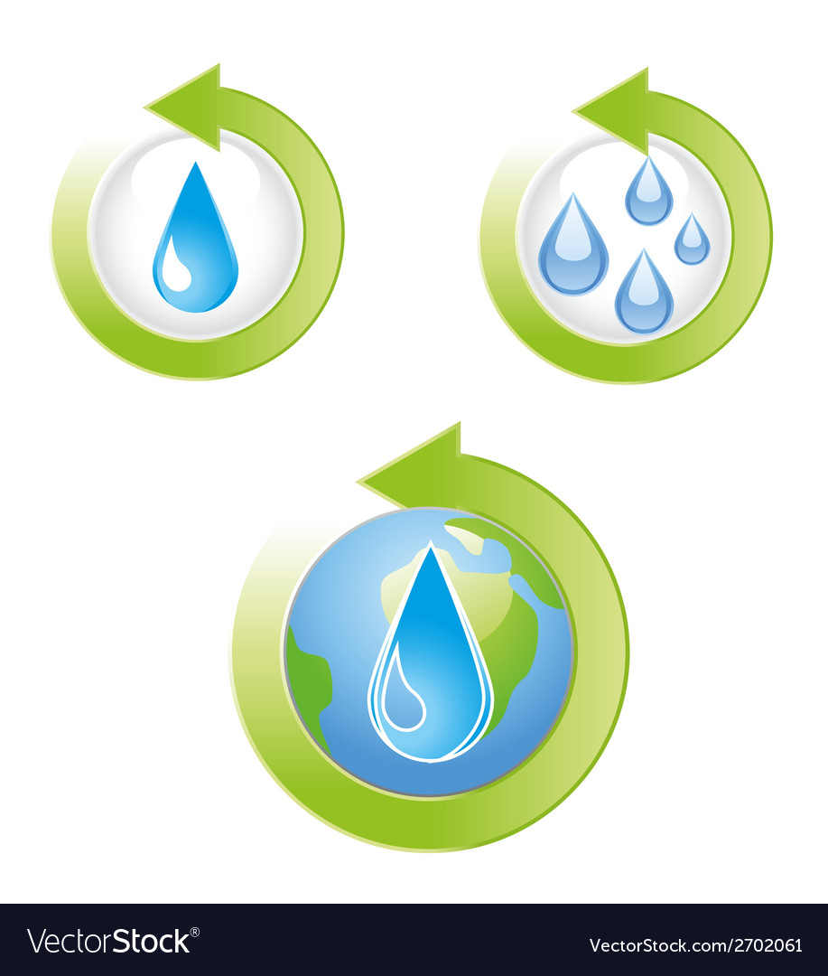 Save water icons vector | Price: 1 Credit (USD $1)