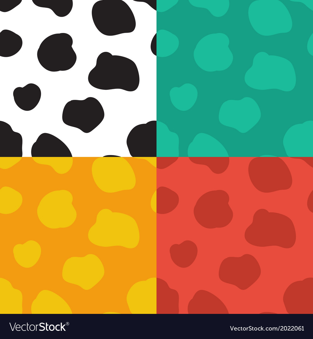 Seamless pattern with spotted cow texture vector | Price: 1 Credit (USD $1)