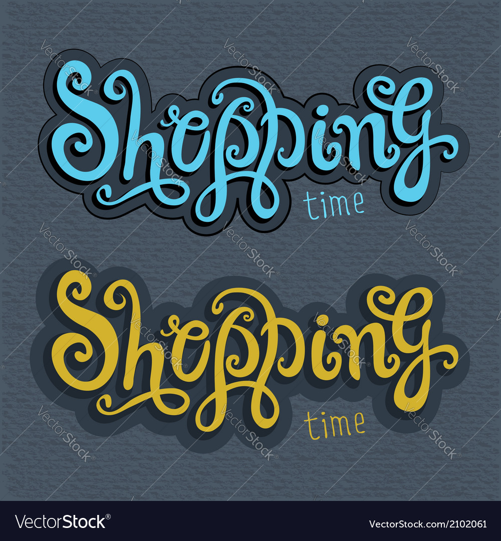 Shopping hand lettering vector | Price: 1 Credit (USD $1)