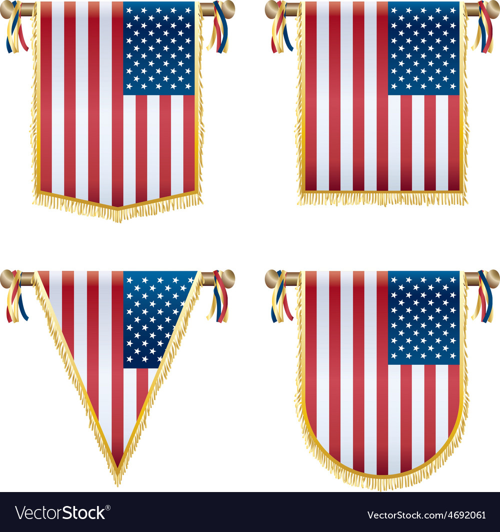 Usa hanging decorations vector | Price: 1 Credit (USD $1)