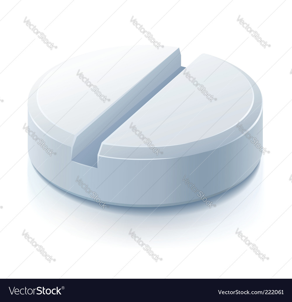 White pill drug medication vector   Price: 1 Credit (USD $1)
