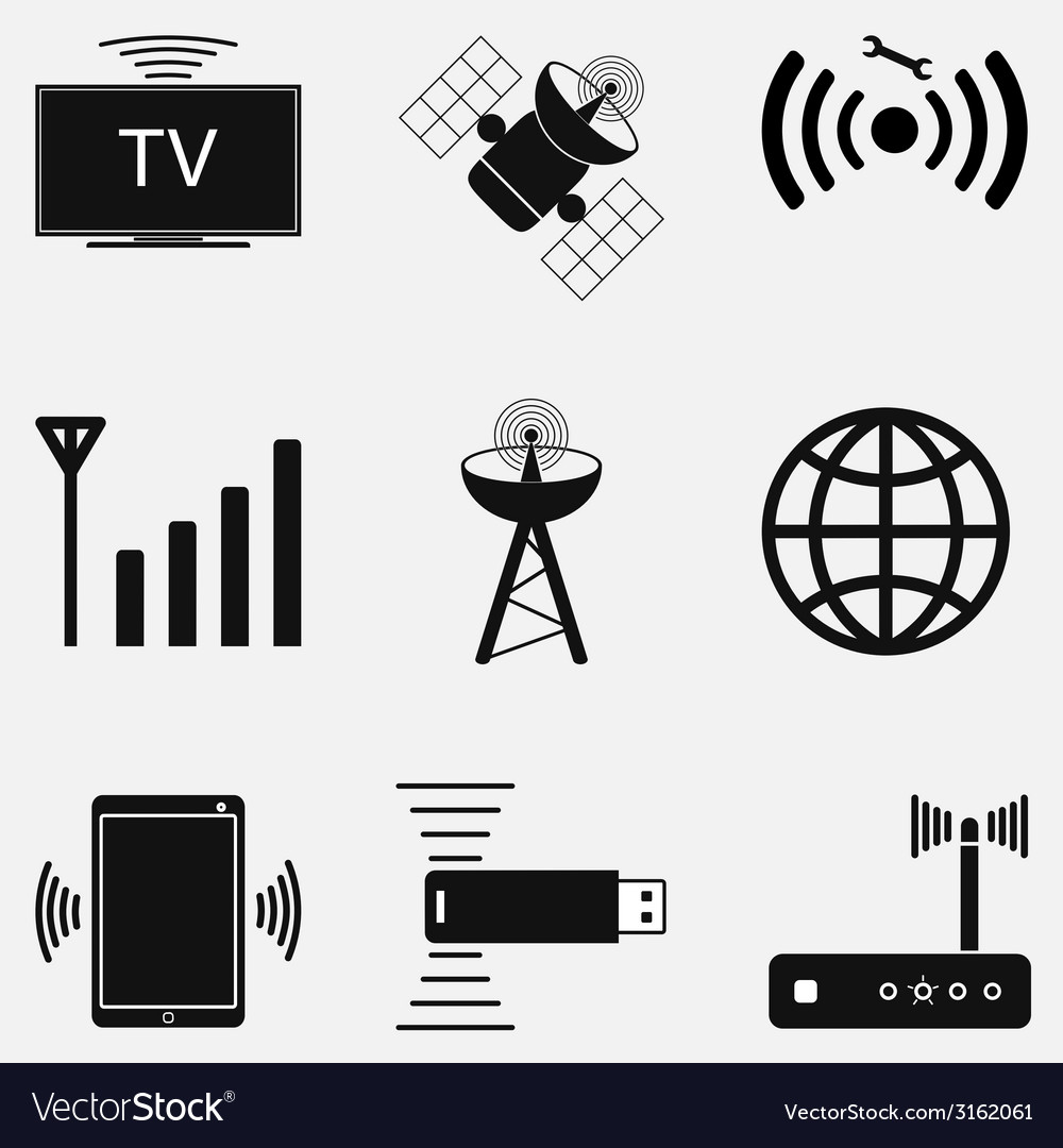 Wifi icon set two vector | Price: 1 Credit (USD $1)