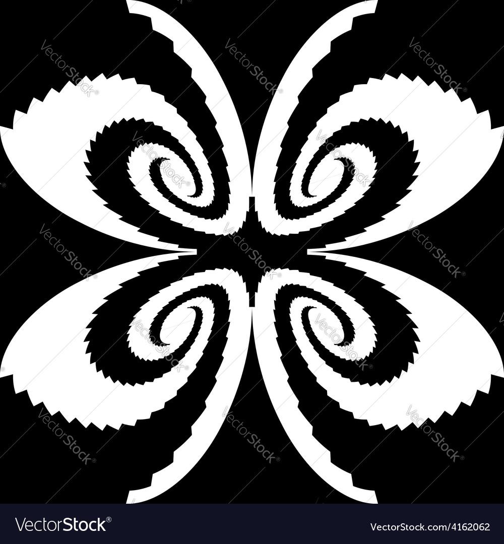 Design monochrome decorative butterfly silhouette vector | Price: 1 Credit (USD $1)