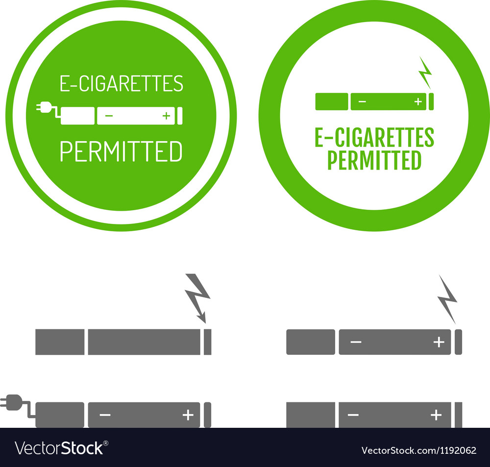 Electronic cigarettes permitted sign vector | Price: 1 Credit (USD $1)
