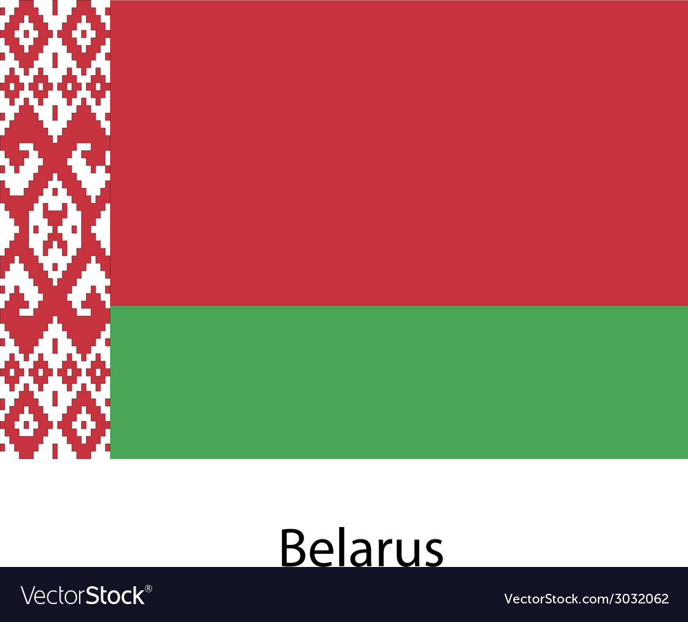 Flag of the country belarus vector | Price: 1 Credit (USD $1)