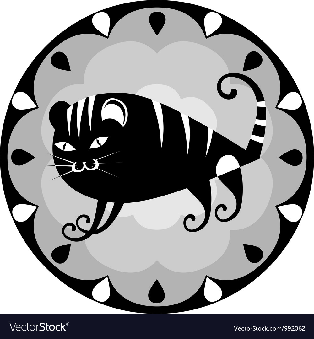 Funny chinese horoscope tiger vector | Price: 1 Credit (USD $1)