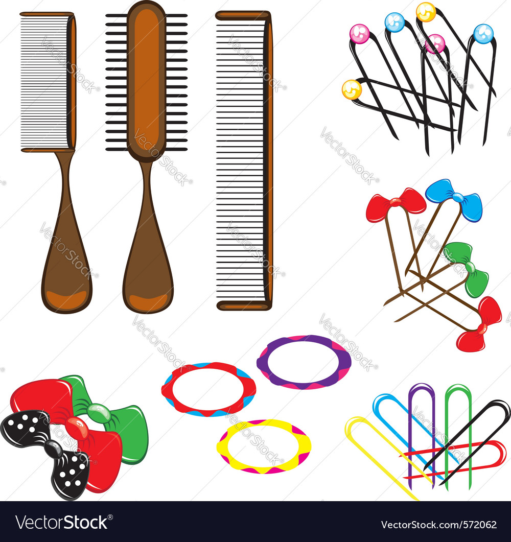 Hair combs and accessories vector | Price: 1 Credit (USD $1)