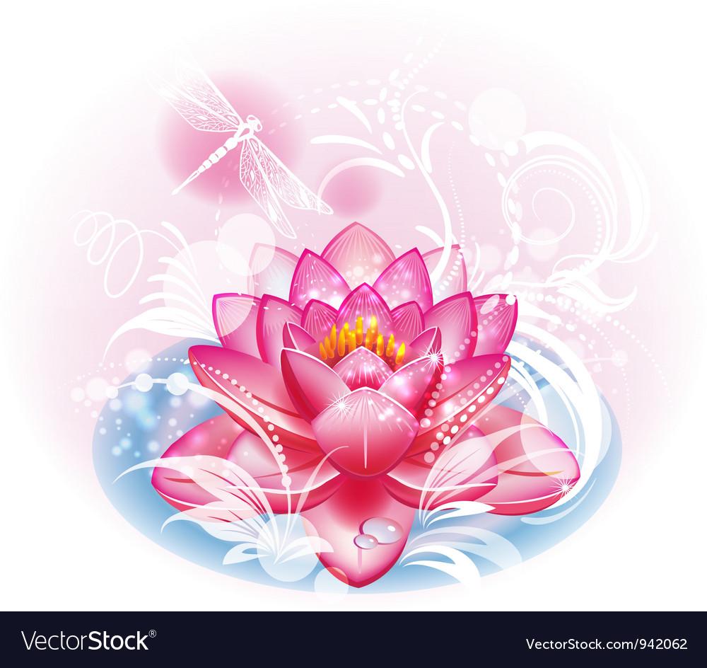 Lotus flower vector | Price: 3 Credit (USD $3)