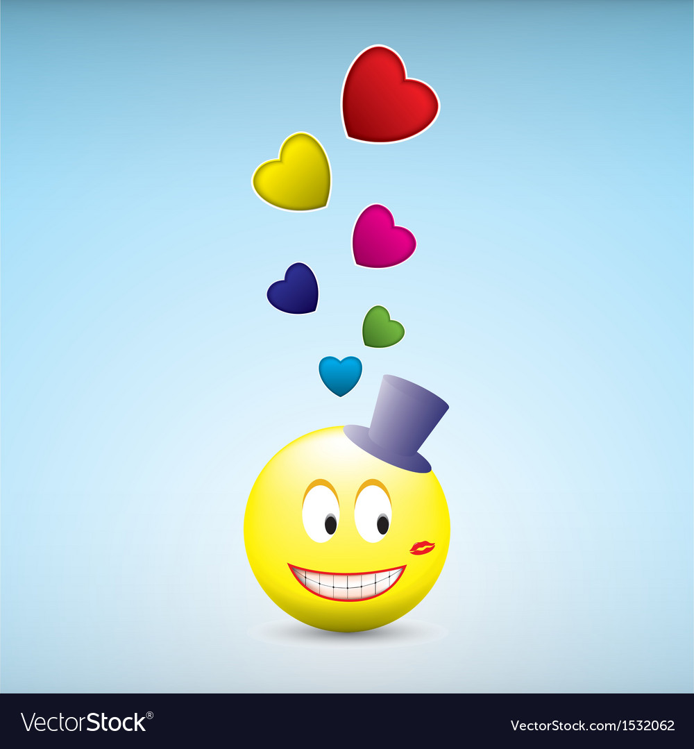 Loved smile vector | Price: 1 Credit (USD $1)