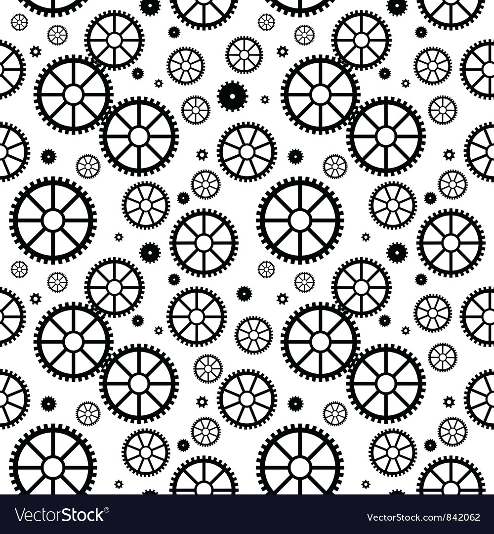 Mechanical wheels seamless vector | Price: 1 Credit (USD $1)