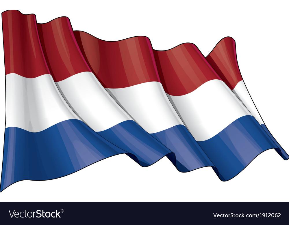 Netherlands flag grunge vector | Price: 1 Credit (USD $1)