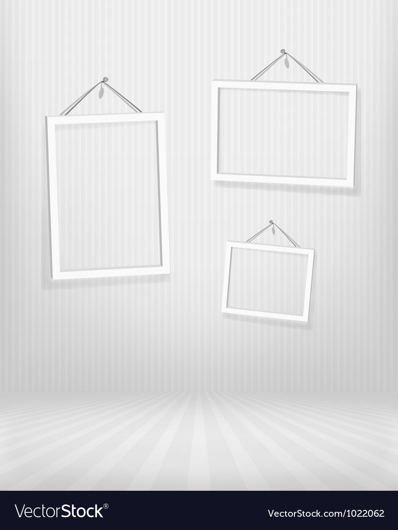 Three frames in striped room vector   Price: 1 Credit (USD $1)