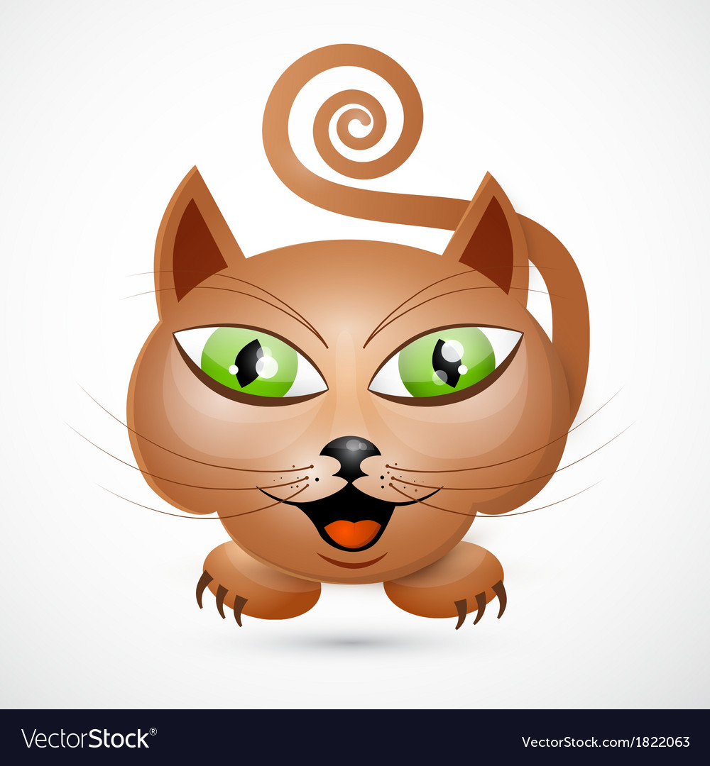 Abstract brown cat vector | Price: 1 Credit (USD $1)
