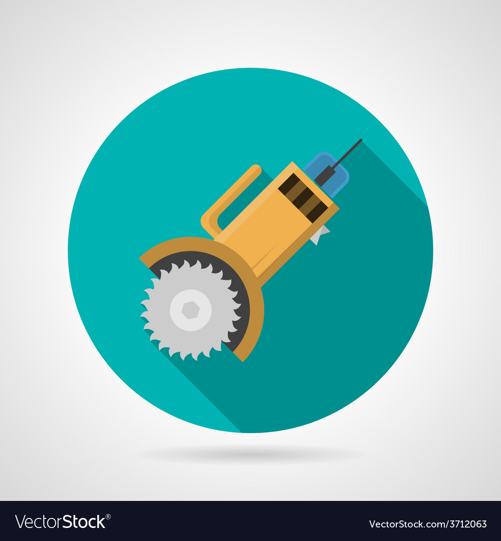 Circular saw flat icon vector | Price: 1 Credit (USD $1)