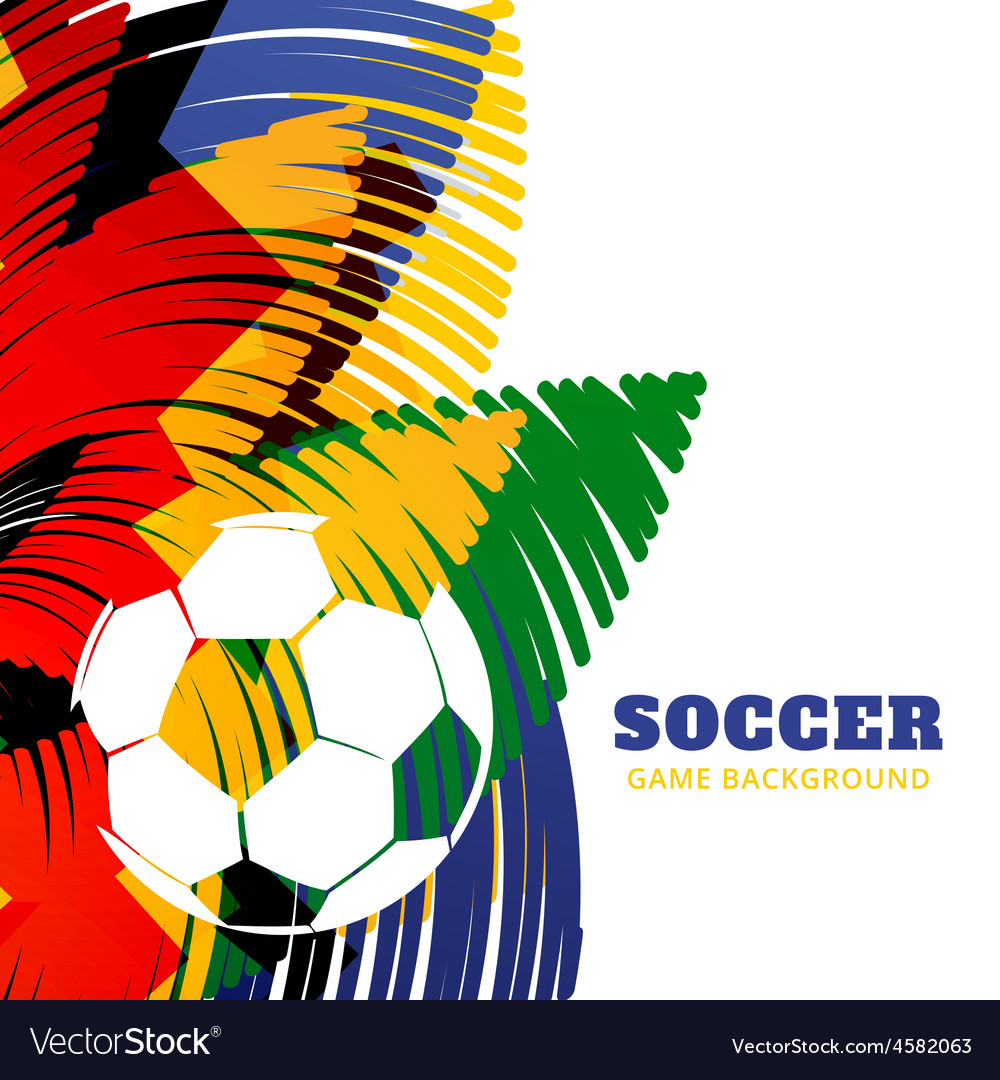 Colorful football design vector | Price: 1 Credit (USD $1)