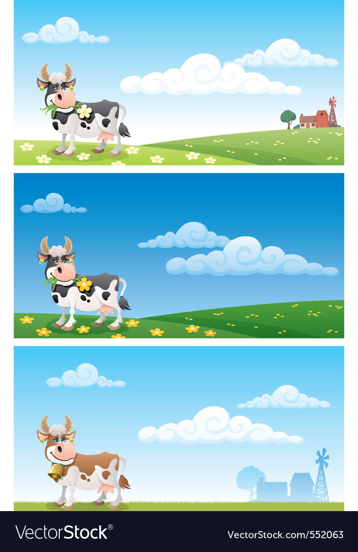 Dairy farm vector | Price: 1 Credit (USD $1)