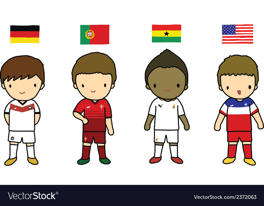 Fifa 2014 football players group g vector | Price: 1 Credit (USD $1)