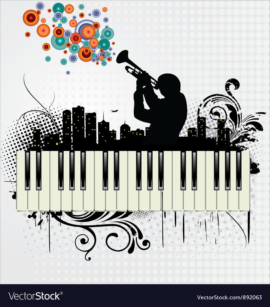 Grunge music background vector | Price: 1 Credit (USD $1)