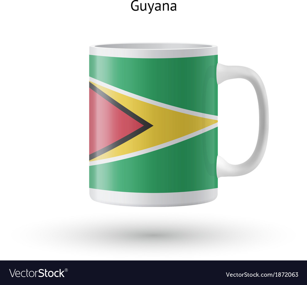 Guyana flag souvenir mug on white background vector | Price: 1 Credit (USD $1)