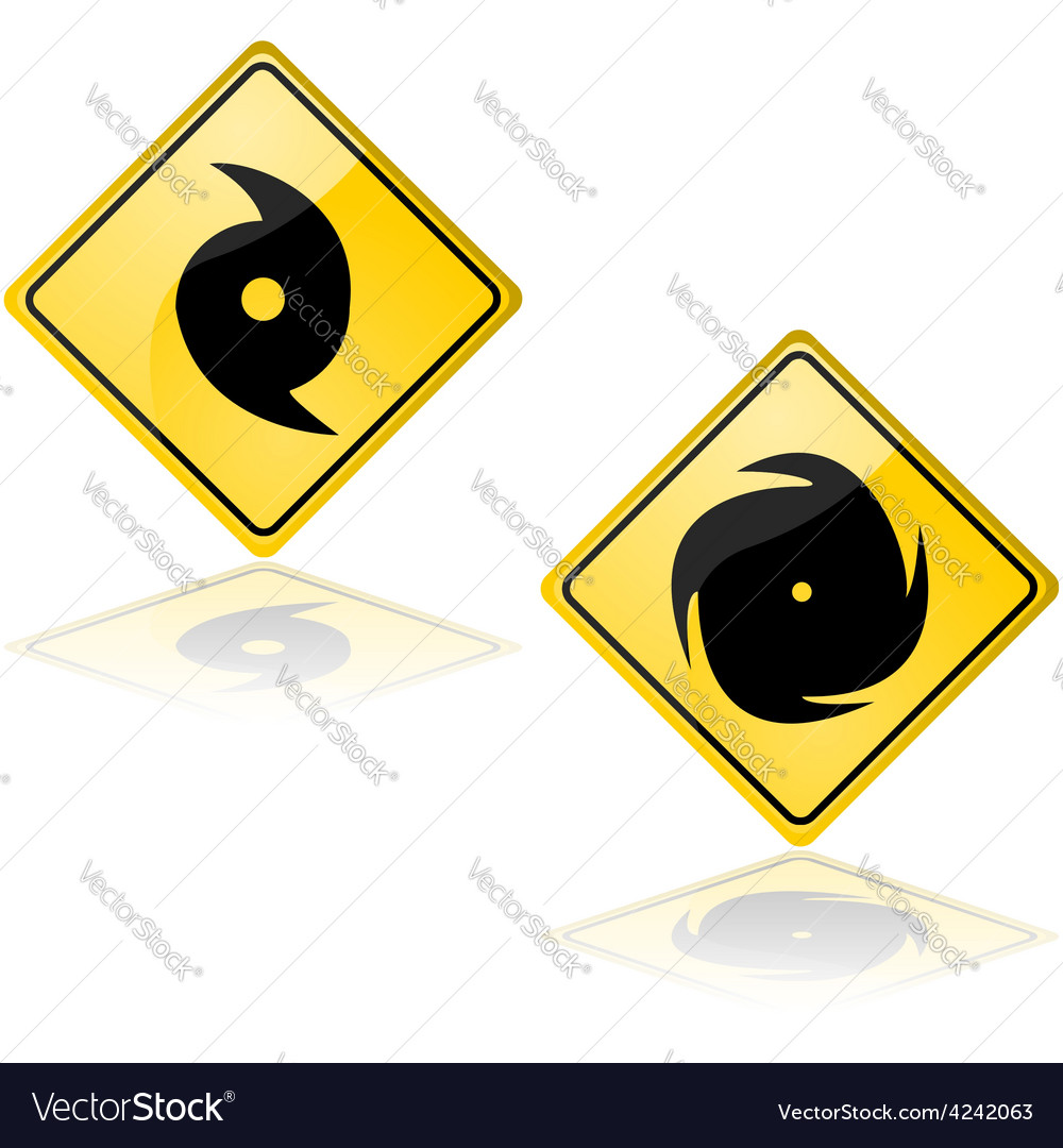 Hurricane signs vector | Price: 1 Credit (USD $1)