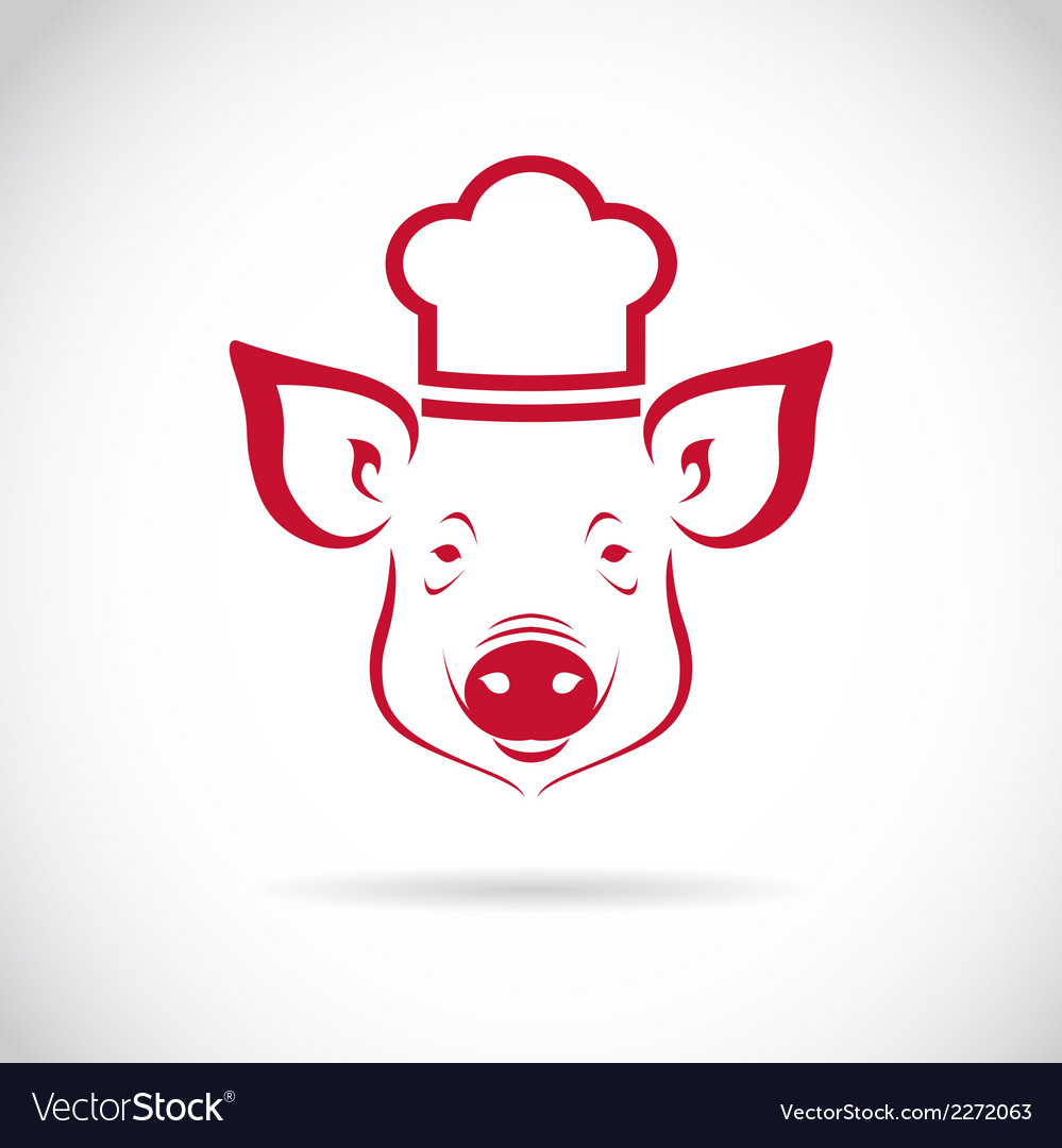 Image of an pig chef vector | Price: 1 Credit (USD $1)
