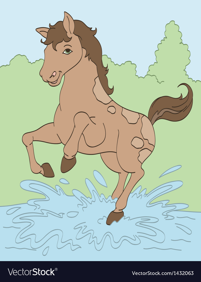 Jumping in puddles vector | Price: 1 Credit (USD $1)