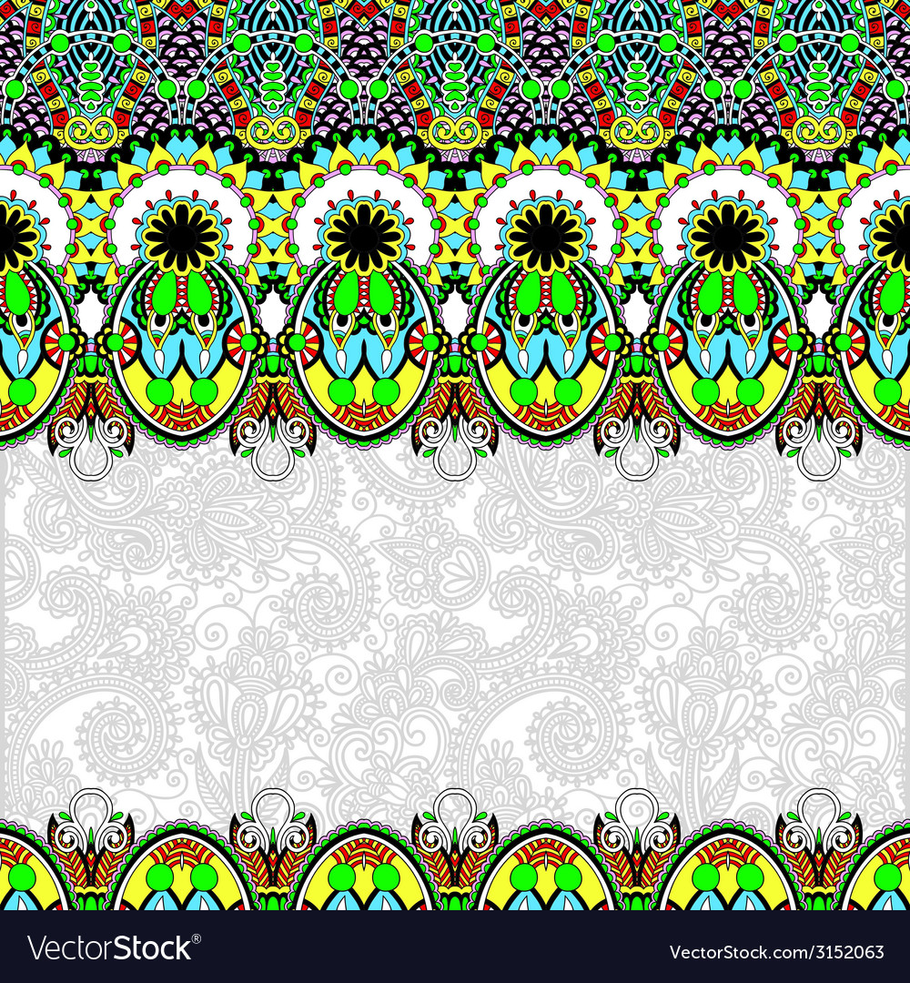Ornamental floral folkloric background for vector | Price: 1 Credit (USD $1)