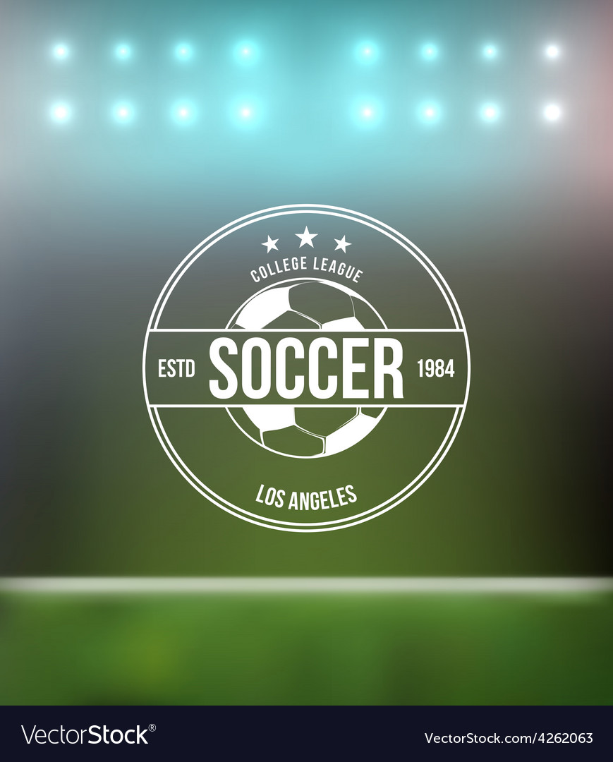 Soccer football typography badge design element vector | Price: 1 Credit (USD $1)