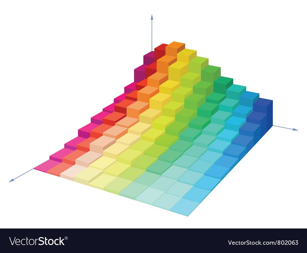 Volumetric multi-colored diagram vector | Price: 1 Credit (USD $1)