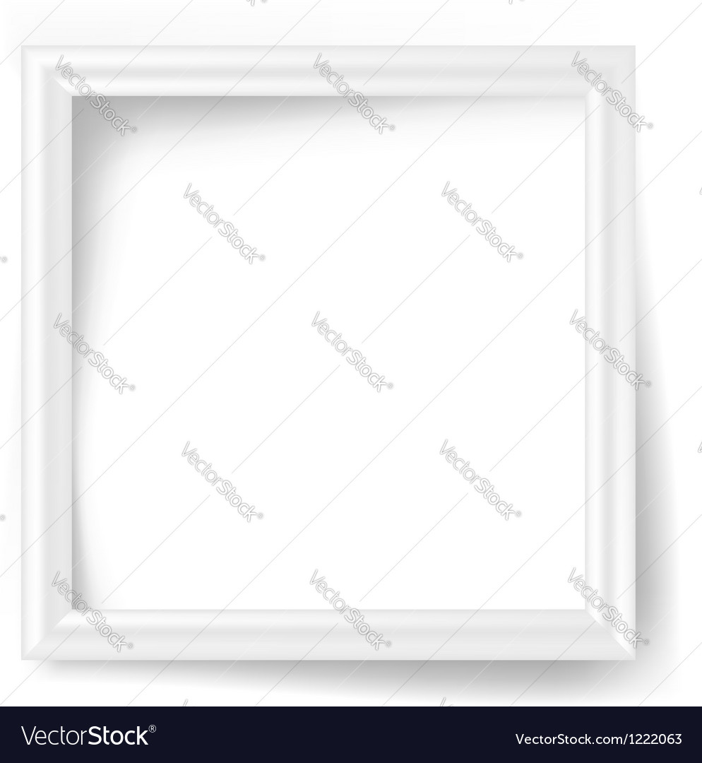 White photo frame vector | Price: 1 Credit (USD $1)