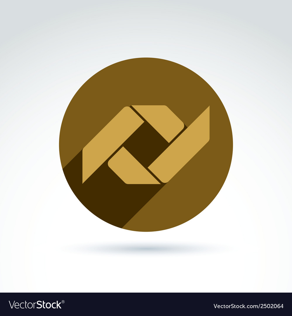 Bronze geometric abstract emblem placed in a vector | Price: 1 Credit (USD $1)