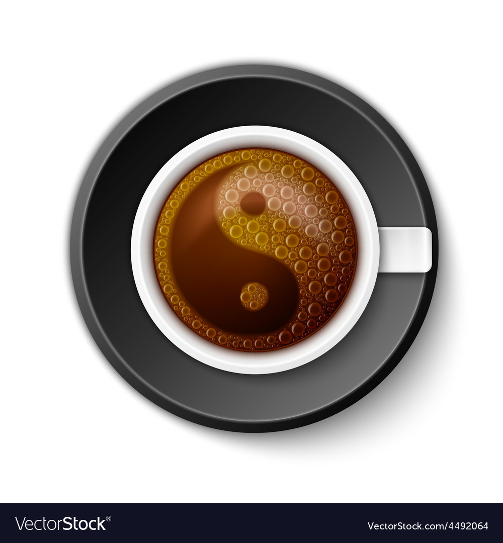 Coffee cup with yin-yang symbol vector | Price: 1 Credit (USD $1)
