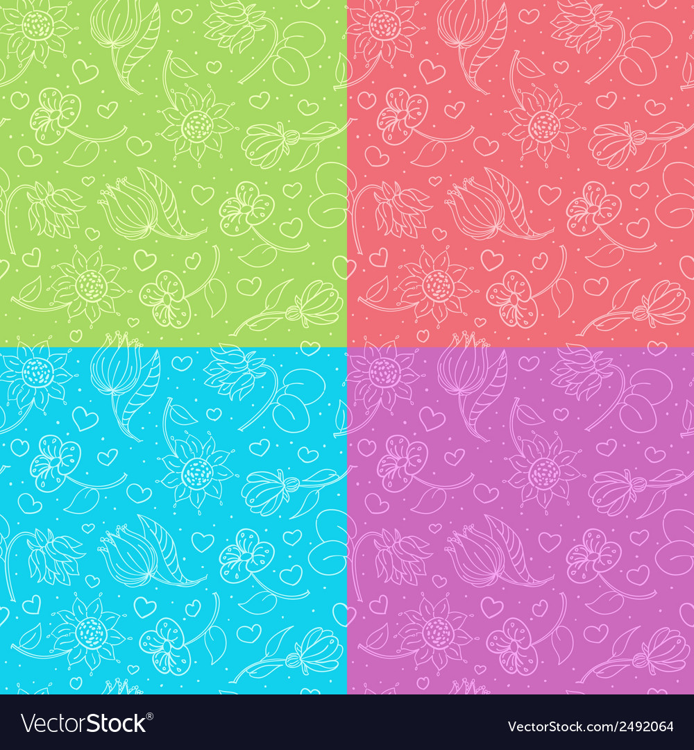 Cute floral pattern vector | Price: 1 Credit (USD $1)