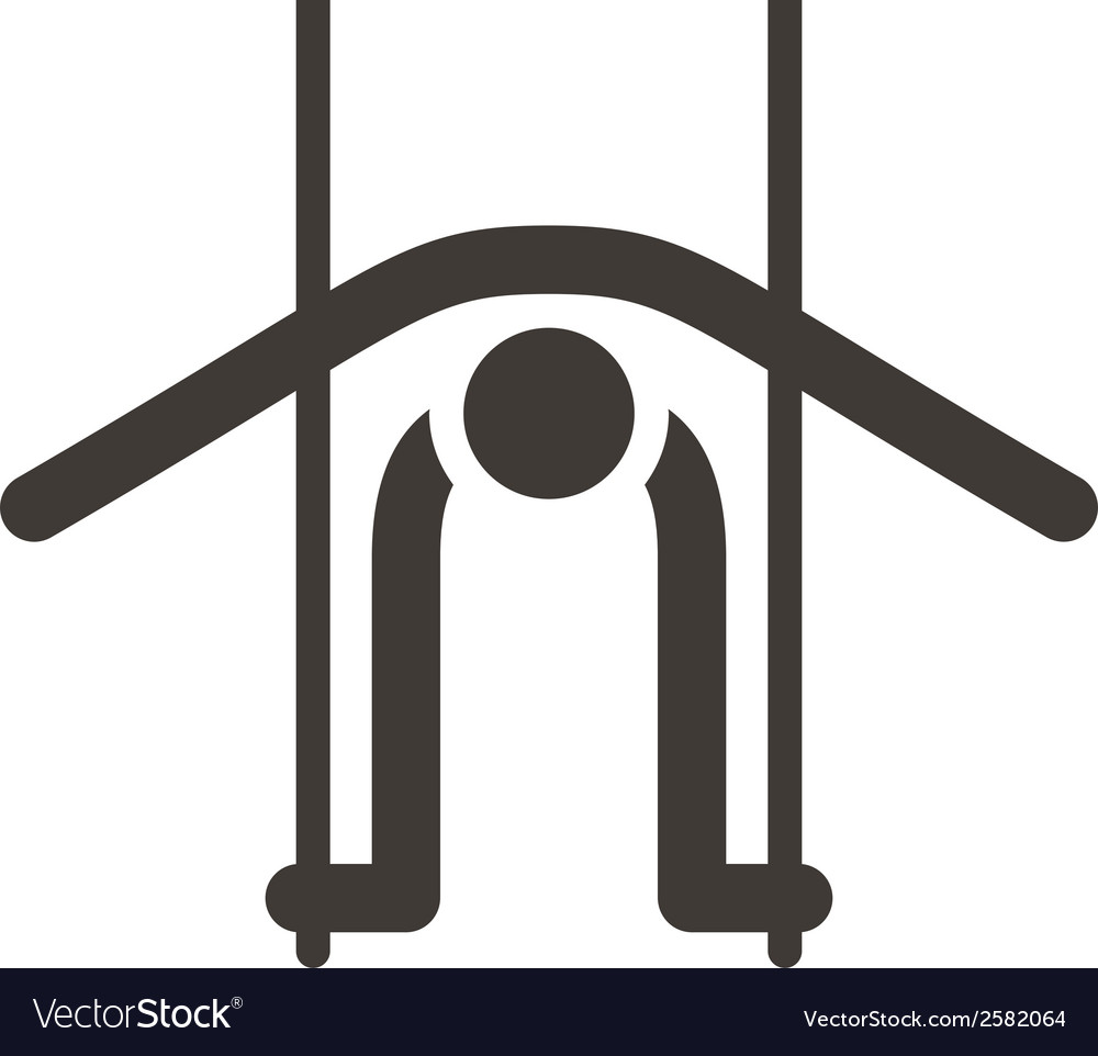 Gymnastics artistic icon vector | Price: 1 Credit (USD $1)