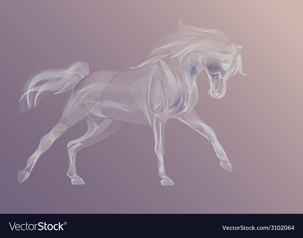 Ornamental horse vector | Price: 1 Credit (USD $1)