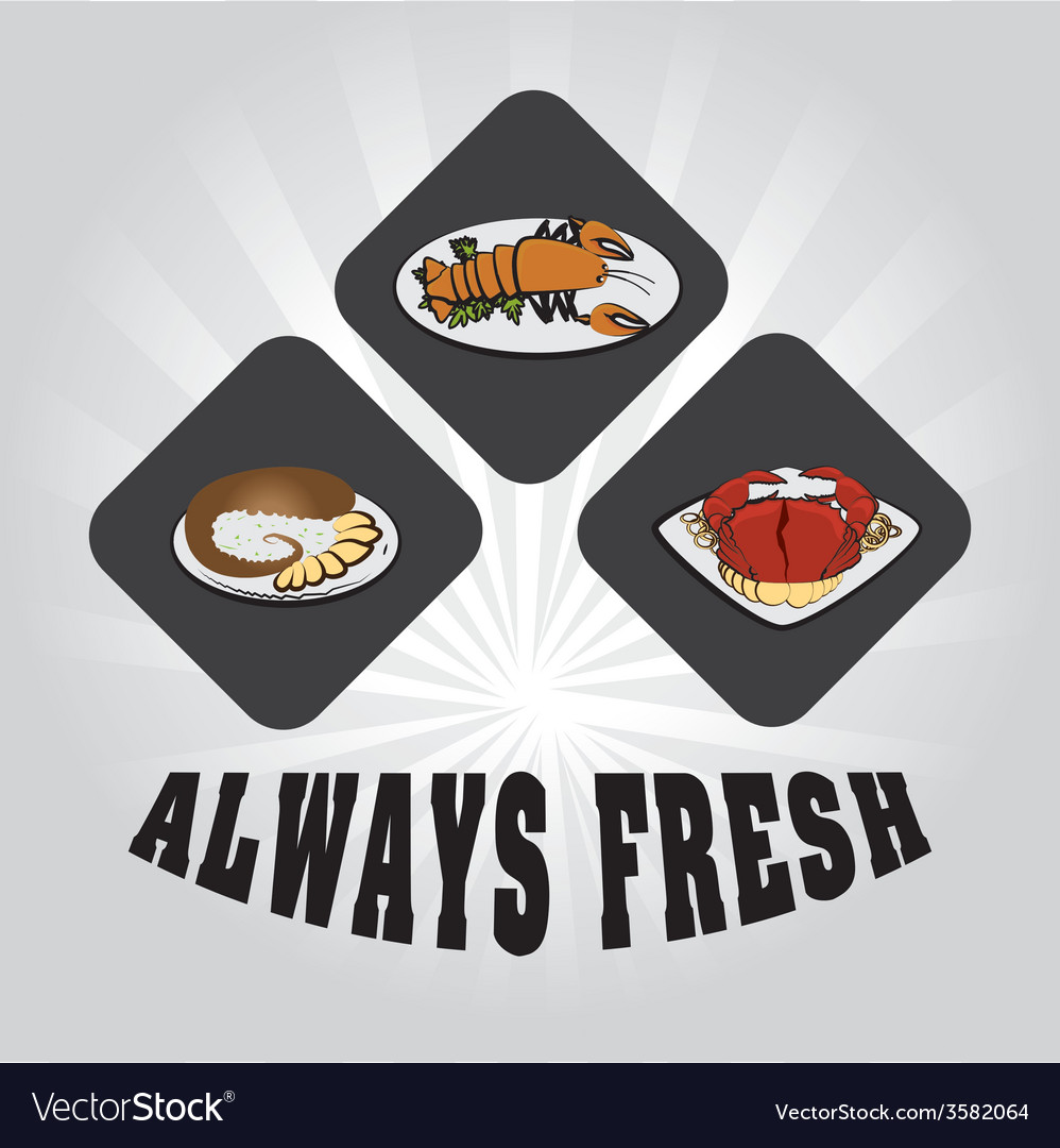 Seafood design vector | Price: 1 Credit (USD $1)