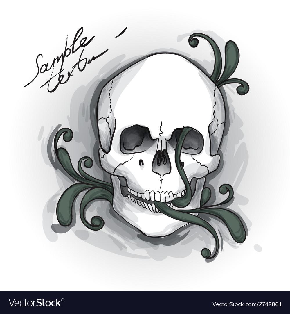 Skull ornament hand drawn vector | Price: 1 Credit (USD $1)