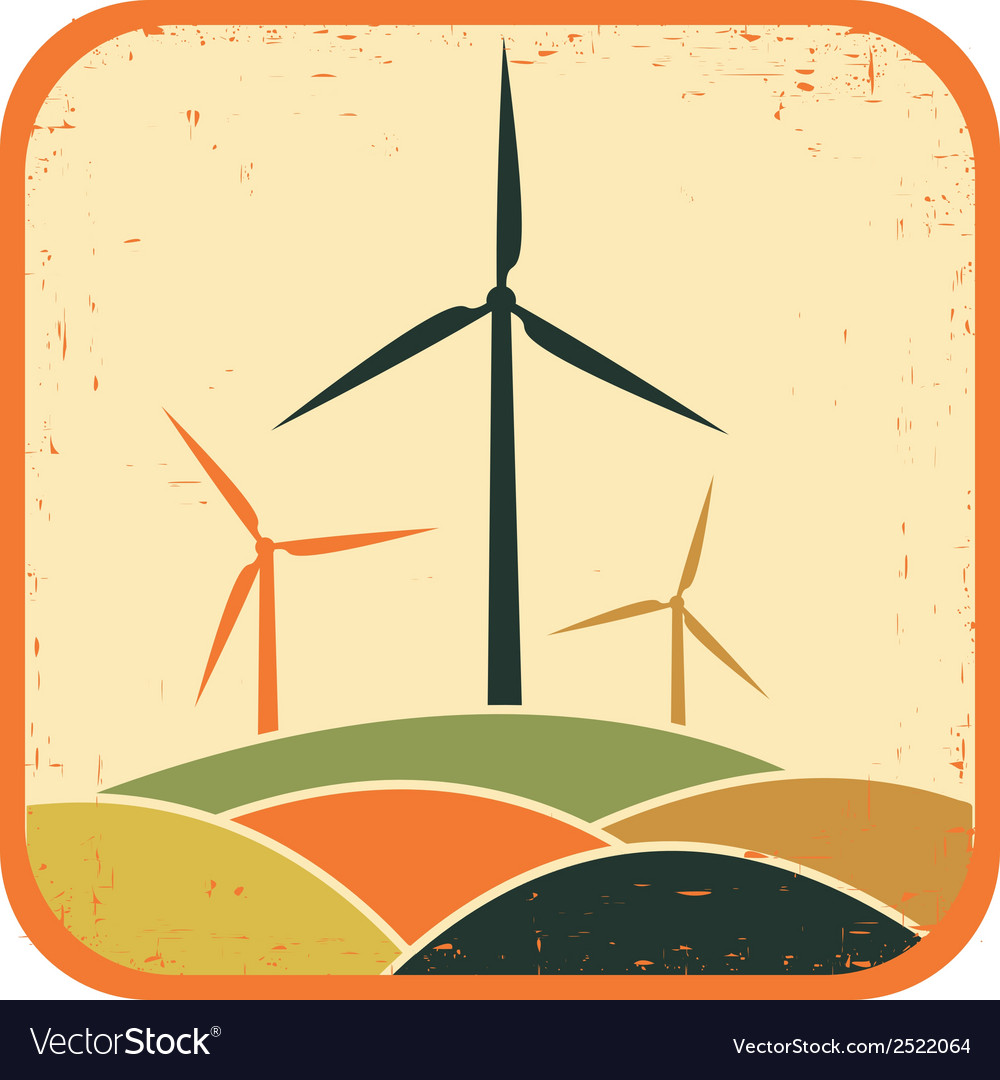 Windmills vector | Price: 1 Credit (USD $1)