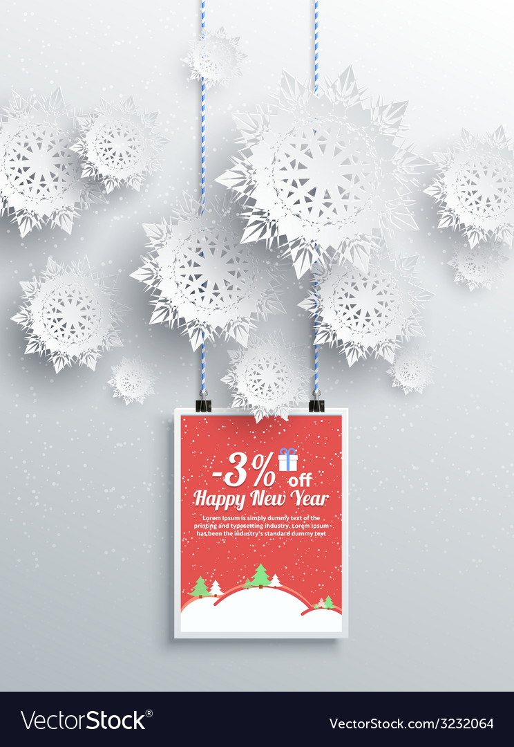 Winter christmas sale design elements vector | Price: 1 Credit (USD $1)