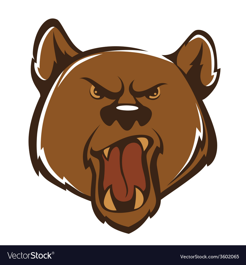Agressive bear vector | Price: 1 Credit (USD $1)