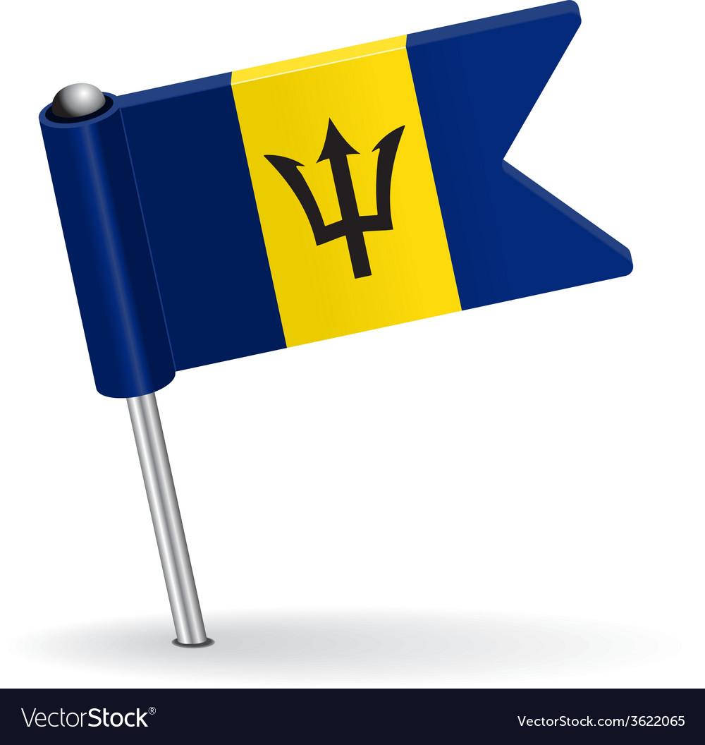 Barbados pin icon flag vector | Price: 1 Credit (USD $1)